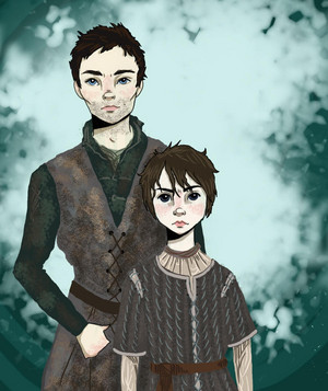 Arya/Gendry Drawing - Winter Is Coming