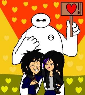Big Hero 6 Hiro and Gogo on First petsa with Baymax (Friends)