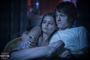 ciara Bravo and Tom Holland in ceri, cherry (2021)