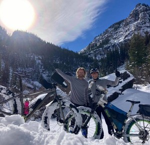 "Dierks Bentley || My new favorite ""office""...fat bike season"