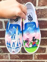 disney Hand Painted Canvas Shoes