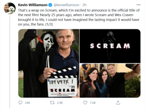 Fifth Scream film gets official title || Scream 5