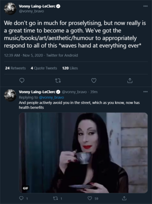 Good time to become a goth