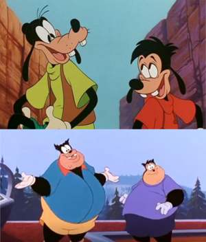 Goofy and Pete's Sons Max and PJ