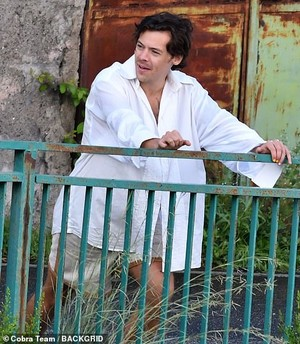 Harry on Set of Golden