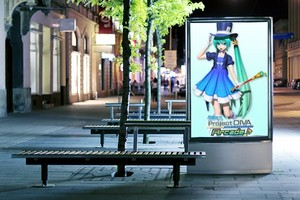 Hatsune Miku Project DNA on the Billboard