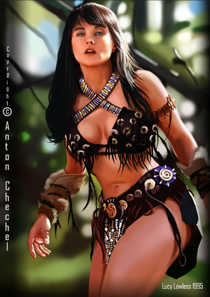 Xena: Warrior Princess - Hot & Sexy Art sa pamamagitan ng Anton Chechel