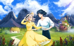 Howl's Moving castelo wallpaper