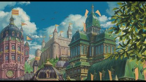 Howl's Moving castello wallpaper