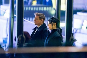 Jeremy Renner and Hailee Steinfeld on the set of Hawkeye || New York || December 9, 2020 !!