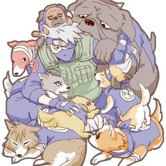 Kakashi Hatake and his hound dogs