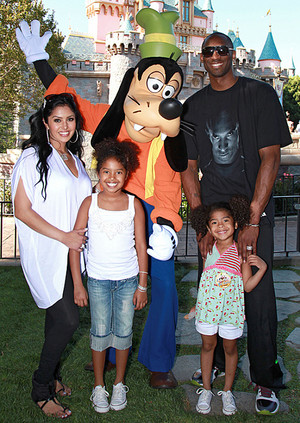 Kobe Bryant And His Family Visiting Disneyland