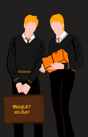 My own design for Fred and George