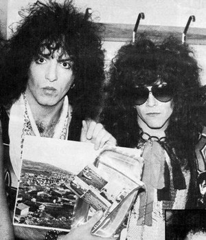 Paul and Eric ~Stockholm, Sweden...November 19, 1983 (Lick it Up Tour)