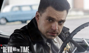 Sebastian Stan as Sheriff Lee Bodecker in The Devil All the Time (2020)