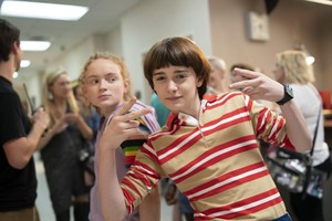 Stranger Things - Behind the Scenes - Sadie Sink and Noah Schnapp