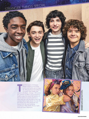 Stranger Things in Girlfriend Magazine - 2019 [1]
