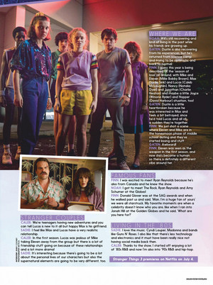 Stranger Things in Girlfriend Magazine - 2019 [3]