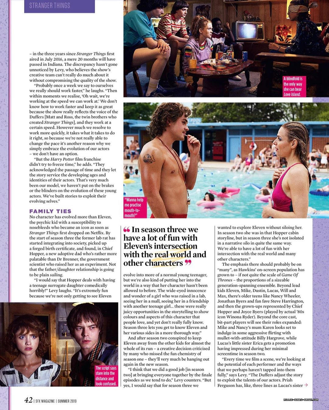 Stranger Things in SFX Magazine - Summer 2019 [5]