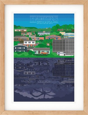 Stranger things Hawkins print