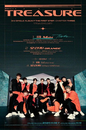 TREASURE - 'THE FIRST STEP : CHAPTER THREE' TRACKLIST POSTER