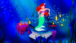 Walt Disney Screencaps – Princess Ariel & Sebastian