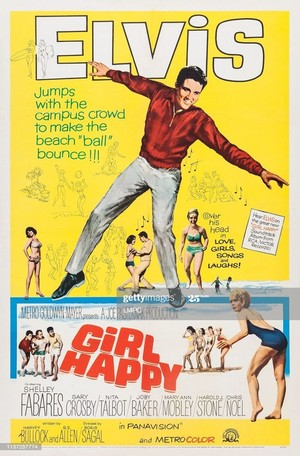 Movie Poster 1965 Film, Girl Happy