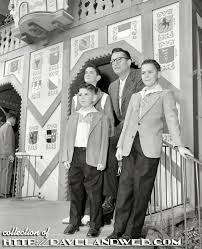 Steve Allen And His Family Visiting Disneyland