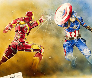 *Captain America v/s Iron Man*