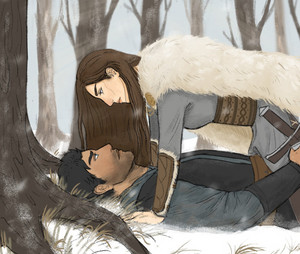 Arya/Gendry Drawing - Winds Of Winter Reunion