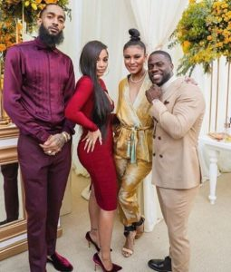 Nipsey Hussle, Lauren London and Kevin Hart