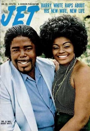 Barry White And Second Wife, Glodean, On The Cover Of Jet