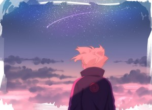 Boruto looking at the sky