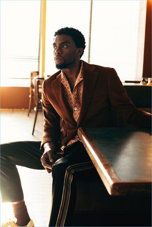 Chadwick Boseman photographed by Bjorn Iooss for Mr Porter || February 2018
