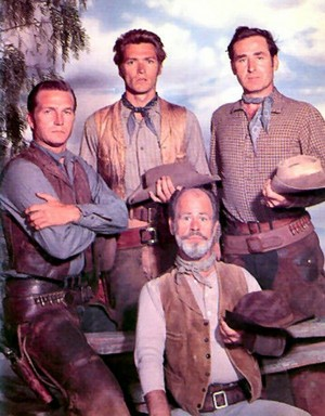 Clint, Eric, Sheb and Paul || Rawhide premiered January 9, 1959 and ran for 8 seasons