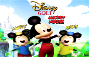Disney Golf Mickey and Morty with Ferdie (Fanart) (Logos)