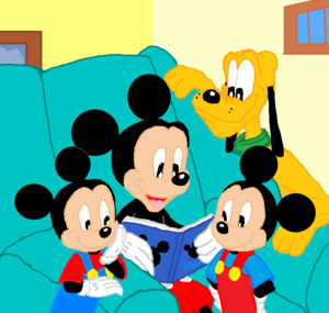 Disney Mickey Family Memory Book with Pluto, Morty and Ferdie.,