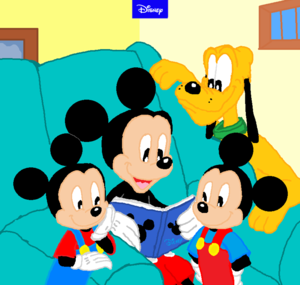 Disney Mickey Family Memory Book with Pluto, Morty and Ferdie.,,