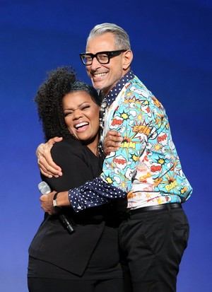 Jeff Goldblum And Yvette Nicole Brown Disney Expo 23