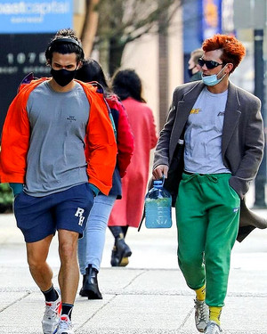 KJ Apa and Charles Melton out and about in Vancouver (02/06/21)