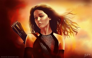 Katniss Everdeen Fanart wallpaper
