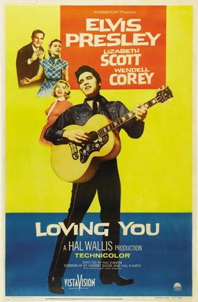 Movie Poster 1957 Film, Loving You