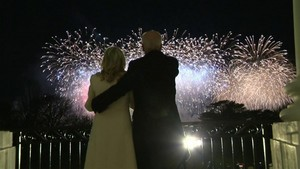 President Biden and the First Lady Fireworks