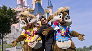 Raven-Symone With Chip And Dale