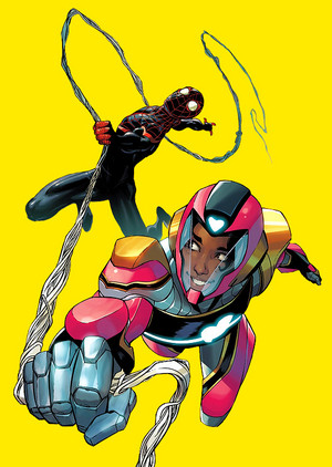 Riri Williams and Miles Morales in Ironheart no. 6
