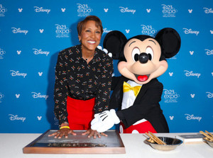 Robin Roberts And Mickey Mouse