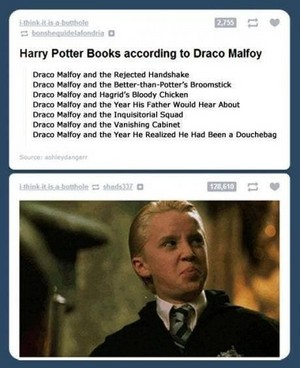 The Harry Potter sách according to Draco Malfoy