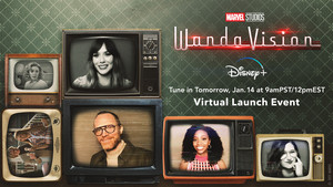 Tune into Twitter tomorrow at 9amPST/12pmEST for a Virtual Launch Event with the cast of WandaVision