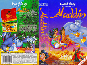 Walt Disney Classics VHS Covers - Aladin (Danish Version)