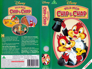Walt Disney Classics VHS Covers - Nuts About Chip 'n' Dale (Danish Version)